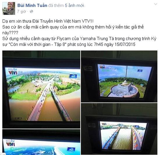 VTV nhận 2 chương trình vi phạm bản quyền của chàng trai mê flycam ảnh 1
