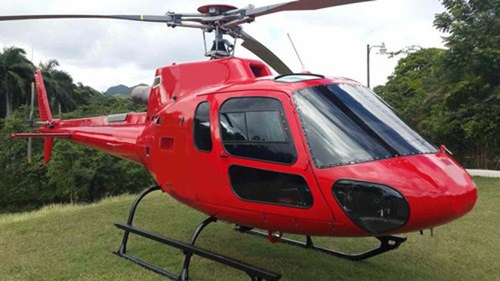 AS-350 B3 là mẫu trực thăng hạng nhẹ được sản xuất bởi Eurocopter - công ty con của tập đoàn Hàng không Không gian và Quốc phòng châu Âu. Trong cabin máy bay có tổng cộng sáu chỗ ngồi, hai cho phi công và bốn dành cho khách. Trực thăng này phù hợp cho tuần tra và các công việc dân dụng.
