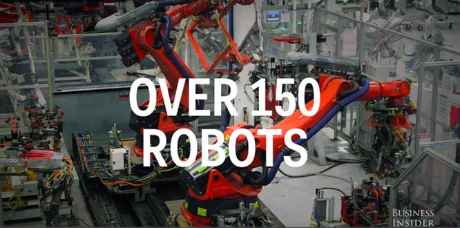 Cận cảnh nhà máy sản xuất xe hơi với 150 robot của Tesla ảnh 9