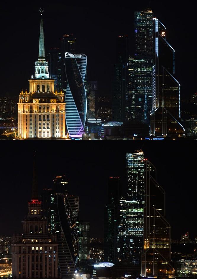 Khách sạn Radisson Royal ở Moskva trong Giờ Trái Đất