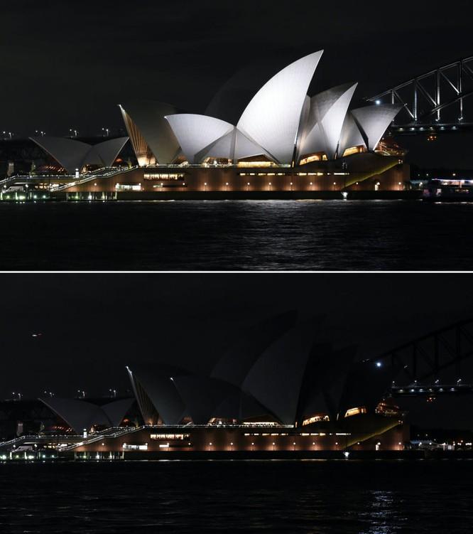 Nhà hát opera Sydney trong Giờ Trái Đất