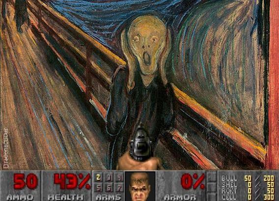 Đau bụng cười vì những họa phẩm nổi tiếng bị chế chủ đề game ảnh 19