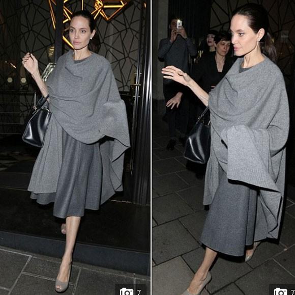 """Angelina Jolie """"trơ xương"""" sau tin đồn tiều tụy sắp chết ảnh 4"""