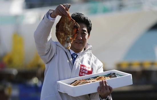 """Thủ tướng Nhật """"chọn cá"""" sau thảm hoạ rò rỉ phóng xạ Fukushima ảnh 1"""