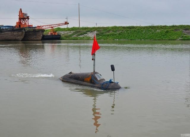 Cận cảnh tàu ngầm giá rẻ do nông dân Trung Quốc chế tạo ảnh 1