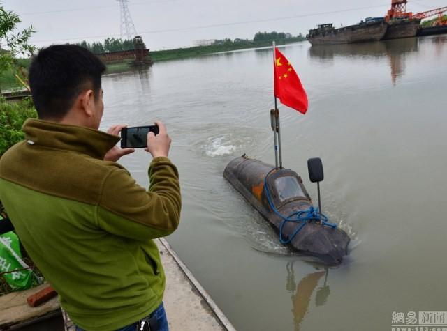 Cận cảnh tàu ngầm giá rẻ do nông dân Trung Quốc chế tạo ảnh 2