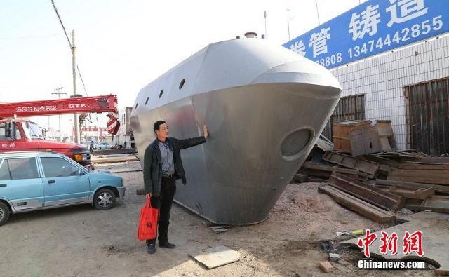 Cận cảnh tàu ngầm giá rẻ do nông dân Trung Quốc chế tạo ảnh 5
