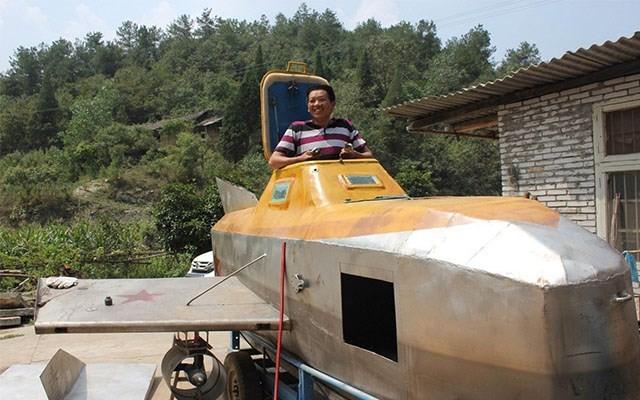 Cận cảnh tàu ngầm giá rẻ do nông dân Trung Quốc chế tạo ảnh 6