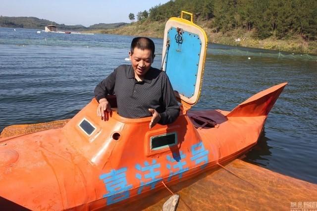 Cận cảnh tàu ngầm giá rẻ do nông dân Trung Quốc chế tạo ảnh 7