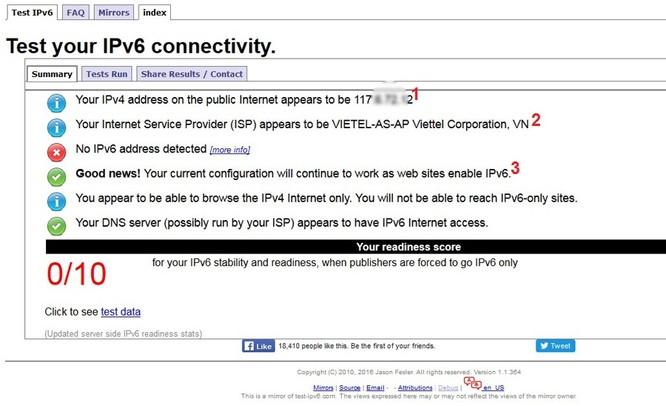 Kiểm tra máy đã sẵn sàng IPv6 với 3 công cụ đơn giản ảnh 2