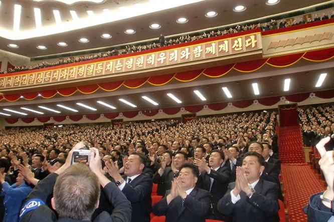 Triều Tiên: Không khí sôi động ngày bầu Chủ tịch Đảng Lao động ảnh 3
