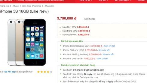 iPhone SE ế khách, iPhone 5S quốc tế xuống dưới 4 triệu đồng ảnh 1