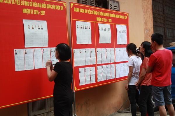 Chùm ảnh: Cử tri Hà Nội nô nức đi bầu cử ảnh 16