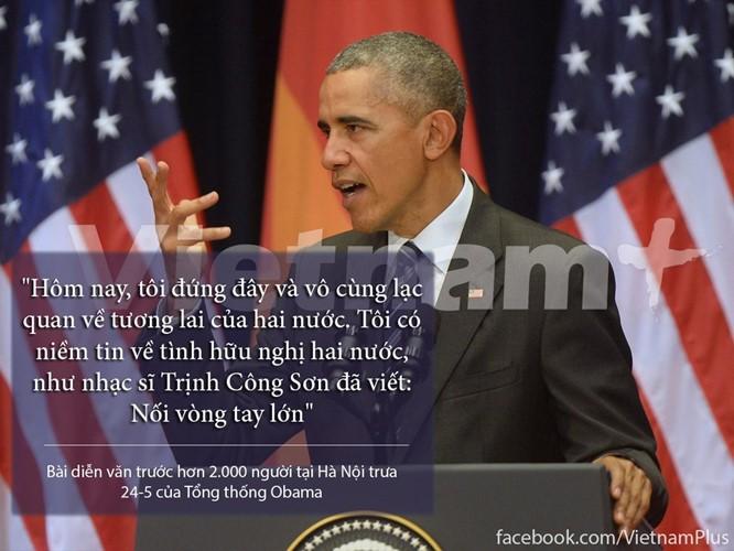 """8 câu nói """"để đời"""" trong bài phát biểu của Tổng thống Obama ảnh 7"""