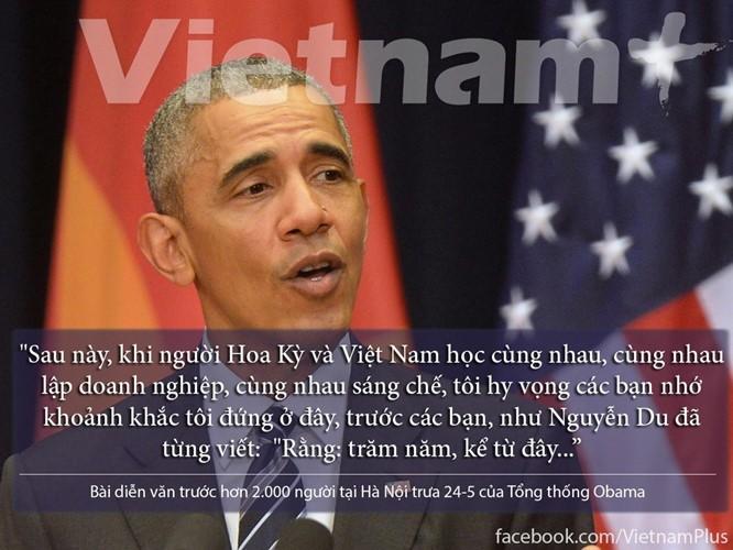 """8 câu nói """"để đời"""" trong bài phát biểu của Tổng thống Obama ảnh 8"""