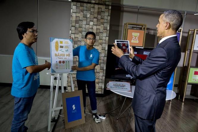 Ảnh Việt Nam đón Obama trang trọng và nồng hậu lên fanpage Nhà Trắng ảnh 14