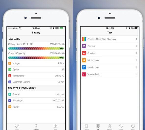 Nhà phát triển Việt ra ứng dụng giúp kiểm tra pin iPhone không cần jailbreak ảnh 1