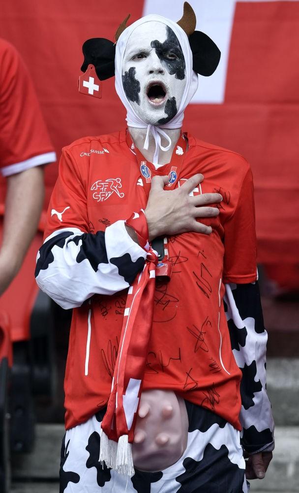 Fan Thuỵ Sĩ trong Giải vô địch bóng đá châu Âu ở Paris