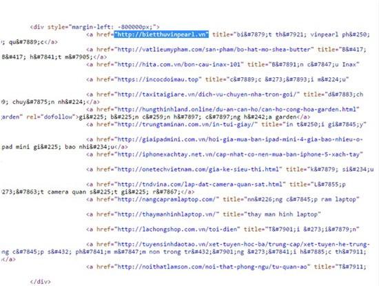 Phát hiện nhiều website cơ quan nhà nước bị chèn link ẩn ảnh 5