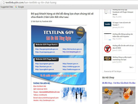 Phát hiện nhiều website cơ quan nhà nước bị chèn link ẩn ảnh 1