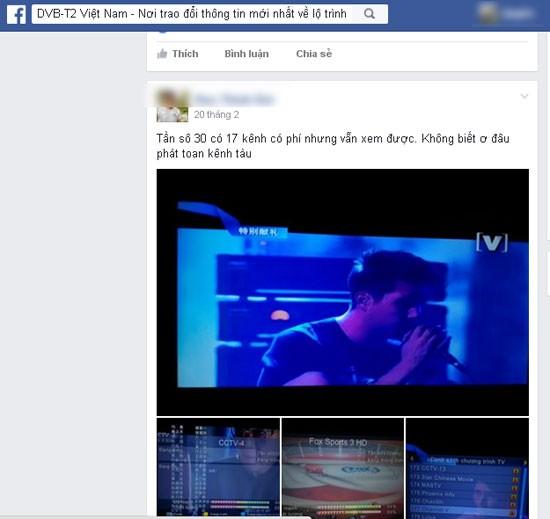 Người dân phản ánh về việc thu được 17 kênh truyền hình Trung Quốc phát sóng từ Canpuchia. Ảnh: Diễn đàn DVB-T2