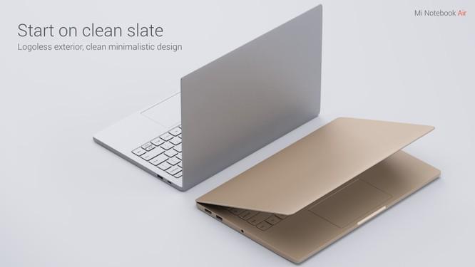 Mi Notebook Air có 2 màu: vàng ánh kim và màu bạc