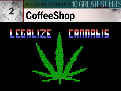 9. CoffeeShop: Phát hiện lần đầu năm 1992 và được cho là có gốc từ Thụy Điển, con virus này ít tiếng tăm trên DOS, chỉ chèn vào dòng văn bản