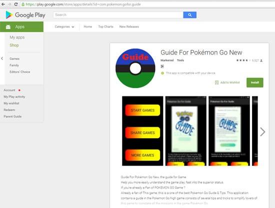 """Cài ứng dụng """"Guide for Pokémon Go"""", điện thoại Android có thể bị hack ảnh 1"""