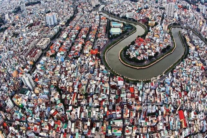 Kênh Nhiêu Lộc-Thị Nghè, đoạn tiếp giáp giữa các quận 1, 3, Phú Nhuận và Bình Thạnh