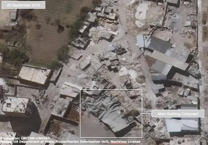 Chiến sự Syria: Tử địa Aleppo tan hoang nhìn từ vệ tinh ảnh 1