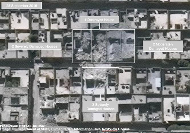 Chiến sự Syria: Tử địa Aleppo tan hoang nhìn từ vệ tinh ảnh 3