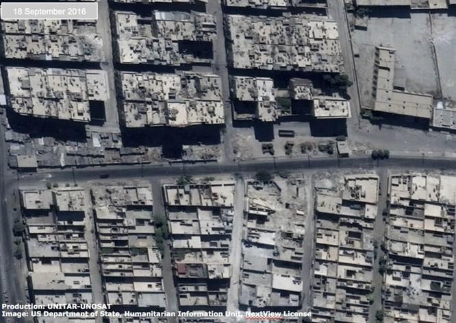 Chiến sự Syria: Tử địa Aleppo tan hoang nhìn từ vệ tinh ảnh 4