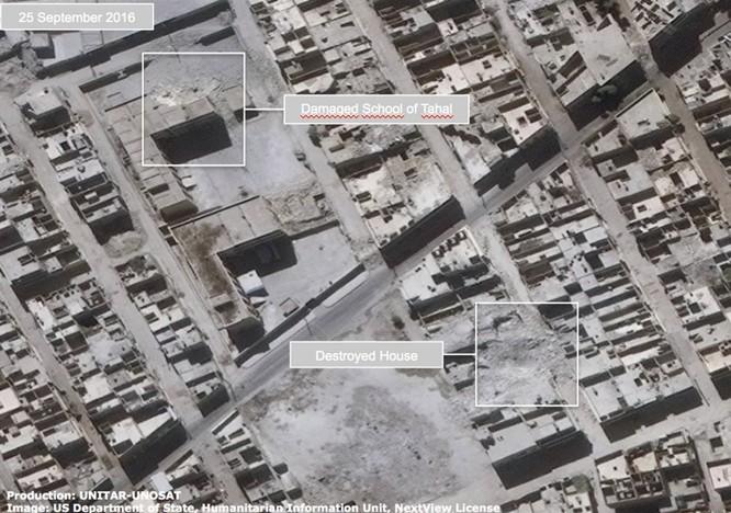 Chiến sự Syria: Tử địa Aleppo tan hoang nhìn từ vệ tinh ảnh 5