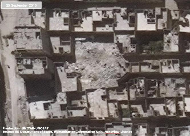 Chiến sự Syria: Tử địa Aleppo tan hoang nhìn từ vệ tinh ảnh 7