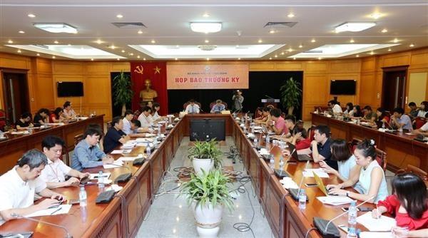 Quang cảnh buổi họp báo thường kỳ của Bộ KH&CN. Ảnh: VP Bộ KH&CN.