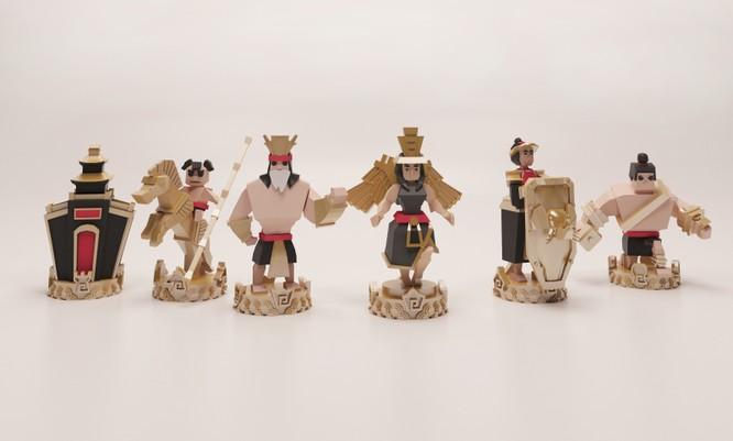 Để cho ra 6 mô hình các quân cờ trong bộ cờ vua in 3D