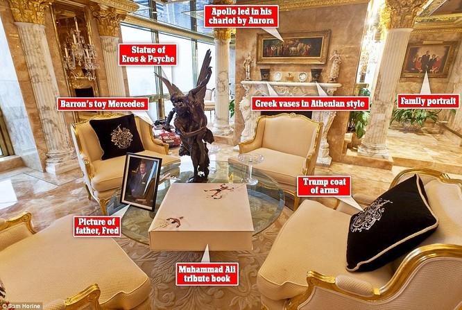 """Video: """"Đột nhập"""" căn hộ dát vàng trị giá 100 triệu USD của Tân Tổng thống Trump ảnh 1"""