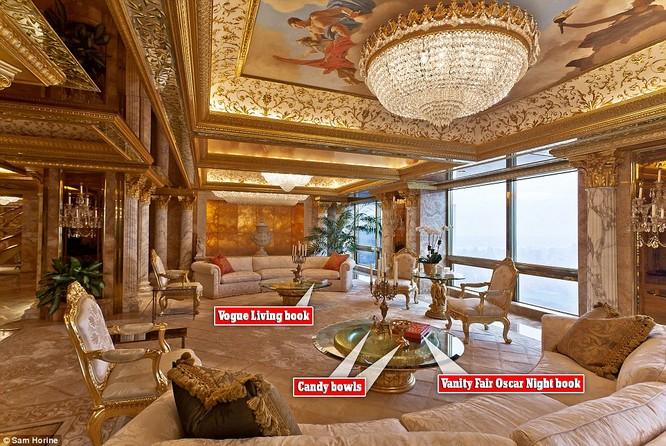 """Video: """"Đột nhập"""" căn hộ dát vàng trị giá 100 triệu USD của Tân Tổng thống Trump ảnh 2"""