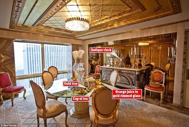 """Video: """"Đột nhập"""" căn hộ dát vàng trị giá 100 triệu USD của Tân Tổng thống Trump ảnh 3"""