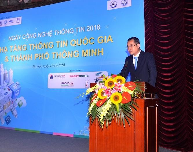 Thứ trưởng Bộ KH&CN Phạm Đại Dương phát biểu tại sự kiện Ngày CNTT 2016.