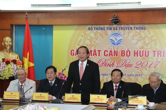 Bộ trưởng Trương Minh Tuấn phát biểu tại buổi gặp mặt cán bộ hưu trí Xuân Đinh Dậu 2017