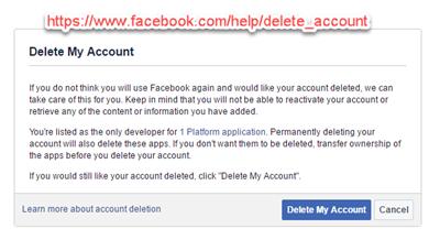 Làm sao để xóa tài khoản Facebook ảnh 2