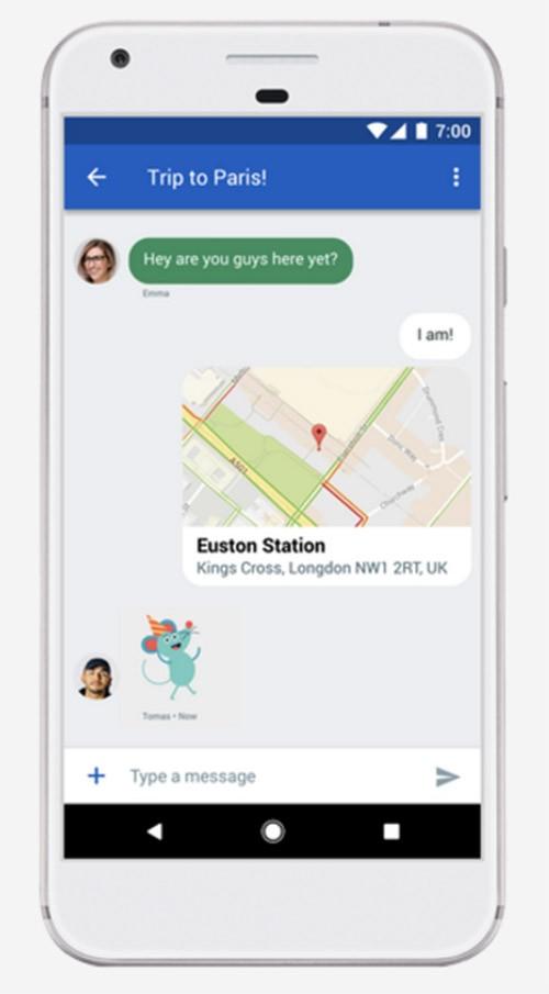 Người dùng Android có thể gửi các tin nhắn với hình ảnh và âm thanh