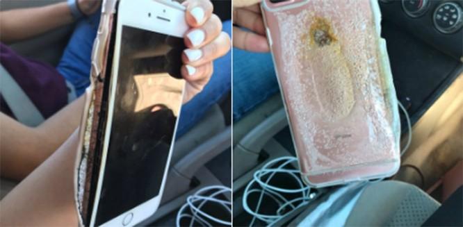 Chiếc iPhone 7 Plus bị cháy được Brianna đăng trên Twitter