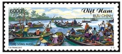 """Bộ tem """"Chợ quê Việt Nam"""" giới thiệu tới quốc tế hình ảnh của Việt Nam ảnh 1"""