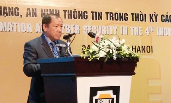Trung tướng Hoàng Phước Thuận, Cục trưởng Cục An ninh mạng - Bộ Công an tại hội thảo Security World 2017.