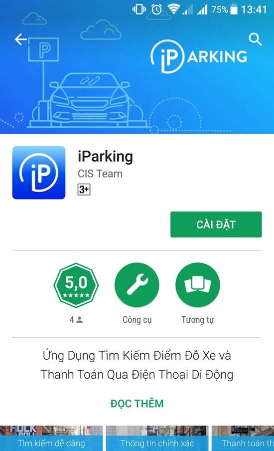 Mách bạn cách dùng ứng dụng iParking tìm kiếm điểm đỗ ô tô qua smartphone ảnh 1