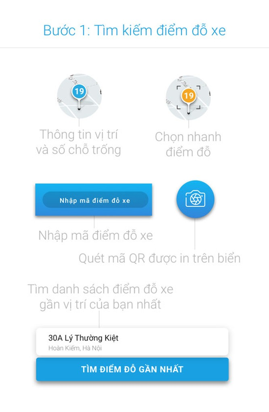 Mách bạn cách dùng ứng dụng iParking tìm kiếm điểm đỗ ô tô qua smartphone ảnh 2