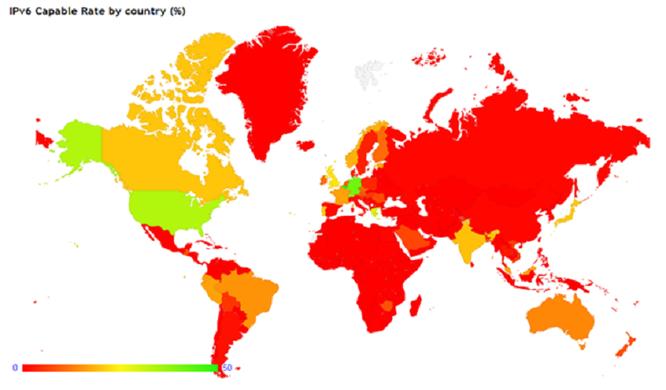 Tình hình triển khai IPv6 trên thế giới.
