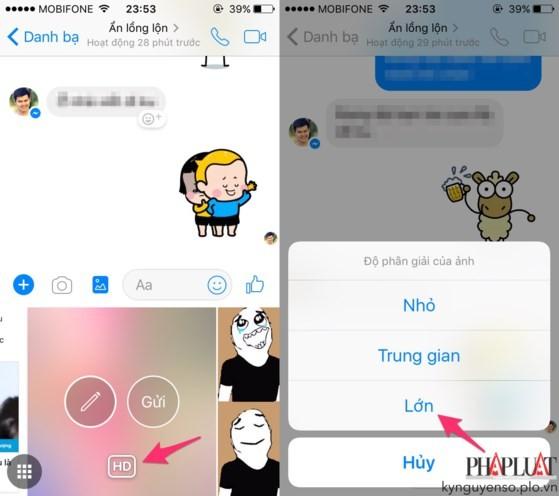 Cách gửi hình chất lượng cao qua Facebook Messenger ảnh 2